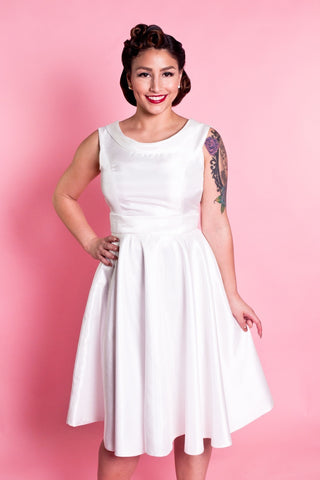BP Suzette Dress - Ivory Shantung - Heart of Haute