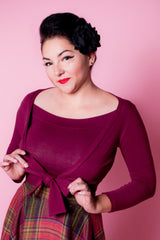 Sweet Sweater - Burgundy - Heart of Haute