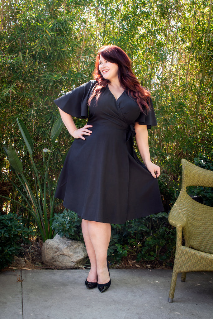 Rachel Wrap Dress - Black