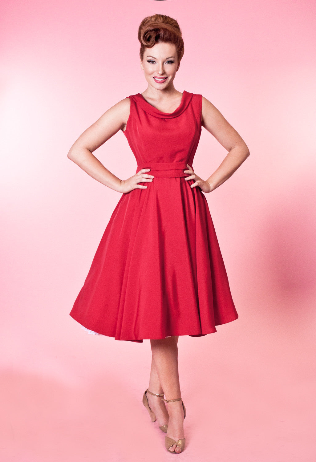 BP Suzette Dress - Tuscany Silkie Red - Heart of Haute  - 2