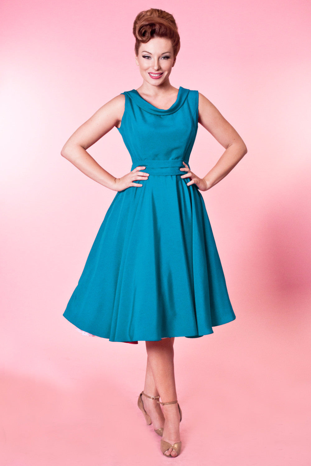 BP Suzette Dress - Tuscany Silkie Teal - Heart of Haute  - 1