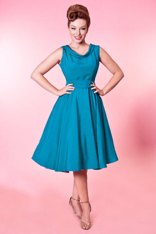 Suzette Dress - Tuscany Silkie Teal - Heart of Haute
