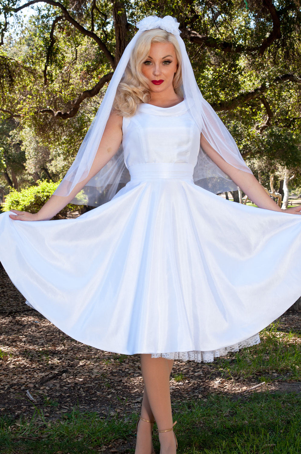 BP Suzette Dress - White Shantung - Heart of Haute  - 2