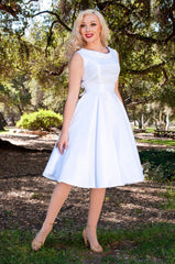 BP Suzette Dress - White Shantung - Heart of Haute  - 1