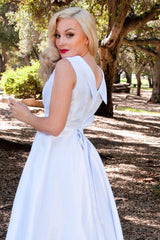 BP Suzette Dress - White Shantung - Heart of Haute  - 3
