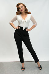 Cigarette Pant - Black - Heart of Haute