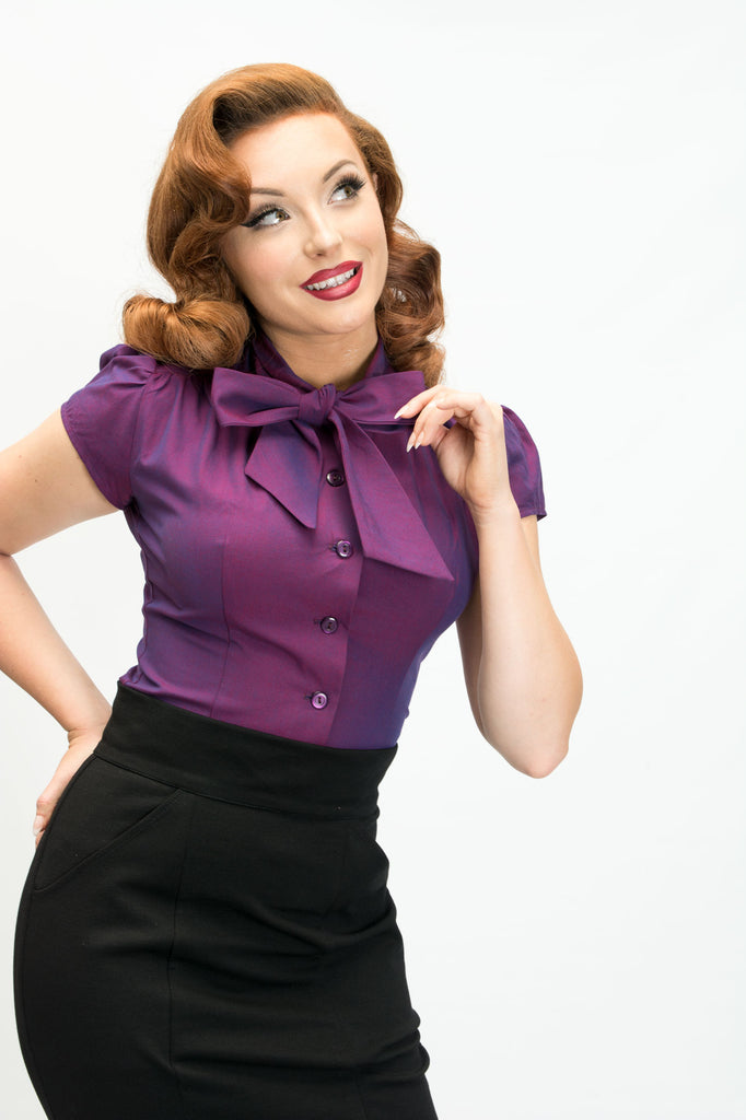 Estelle Blouse - Amethyst - Heart of Haute
