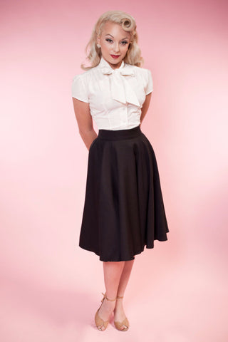 Haute Circle Skirt - Black Go Getter - Heart of Haute  - 1