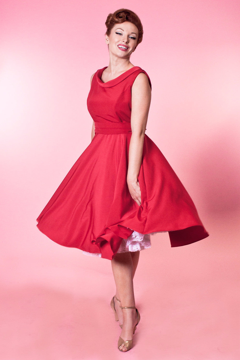 Suzette Dress - Tuscany Silkie Red - Heart of Haute