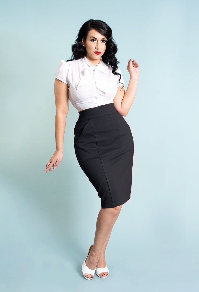 Princess Pencil Skirt - Black - Heart of Haute