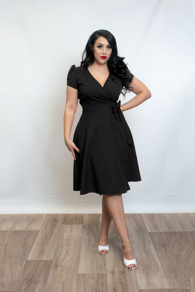 Rayleine Wrap Dress - Black Melange