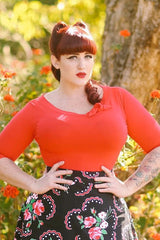 Lily Top - Red - Heart of Haute