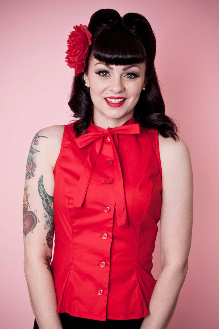 Ella Top - Red - Heart of Haute  - 1