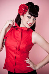 Ella Top - Red - Heart of Haute  - 2