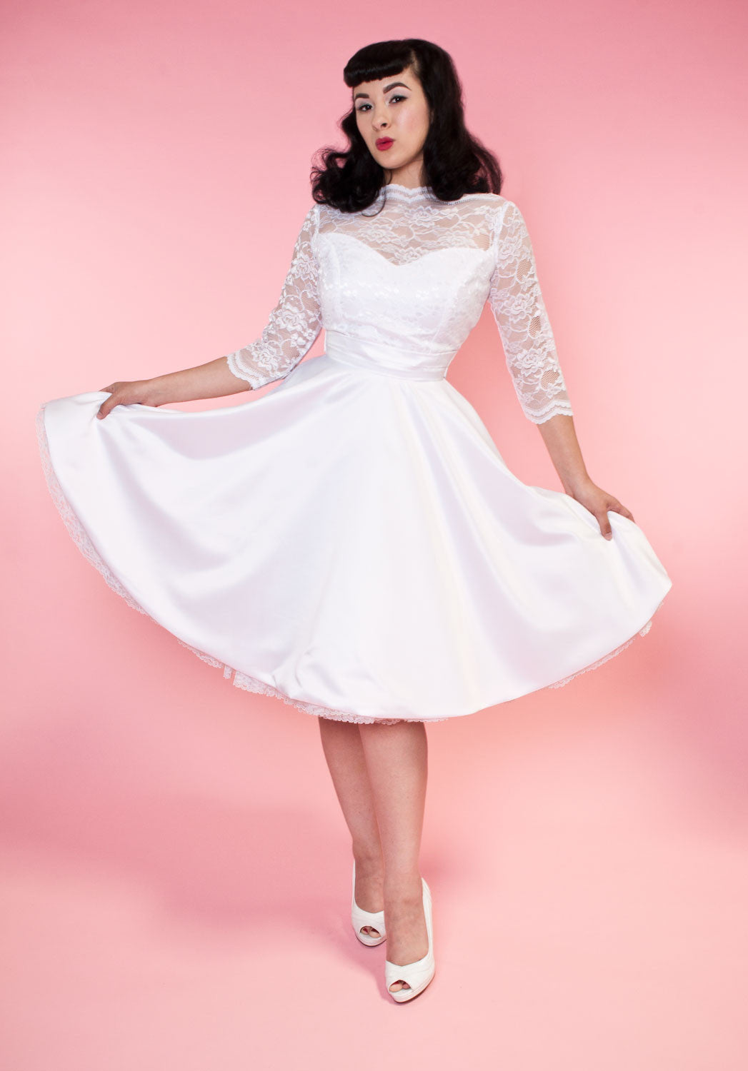 BP Collette Dress - White Lace - Heart of Haute  - 2