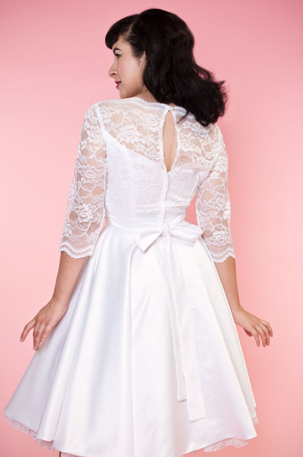 BP Collette Dress - White Lace - Heart of Haute  - 5