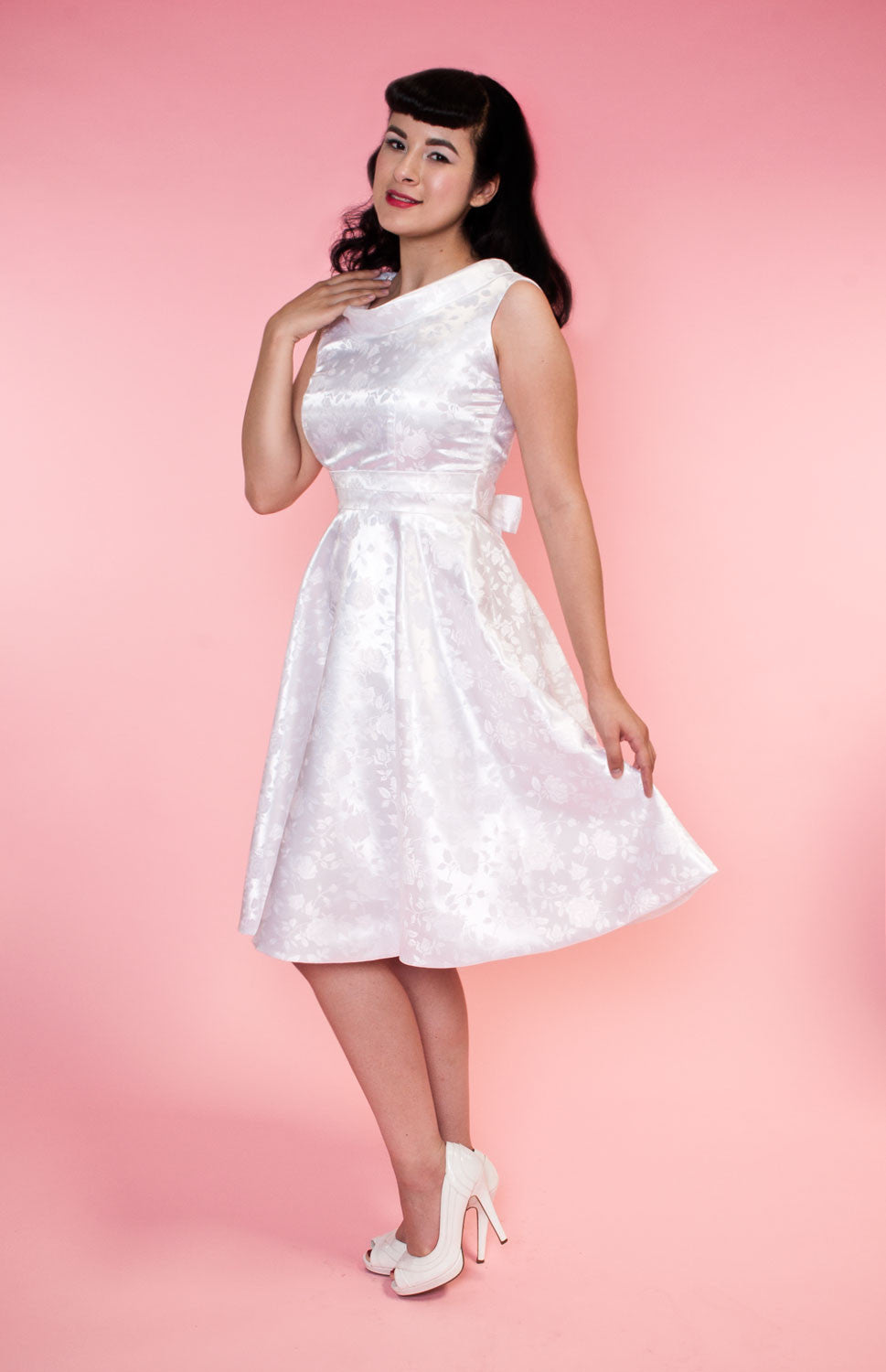 BP Suzette Dress - Pearl Embossed Floral - Heart of Haute  - 10