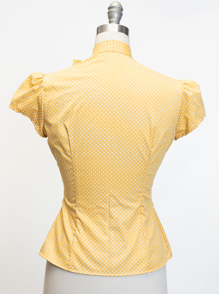 Estelle Blouse- Polka Dot Marigold