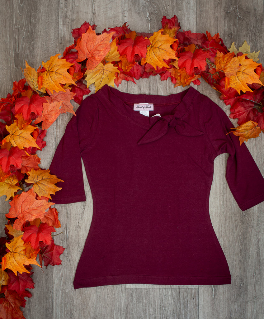 Lily Top - Burgundy