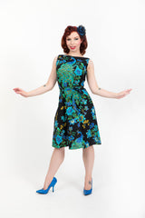 Monique Dress - Peacock Royale - sold out until April - Heart of Haute  - 3