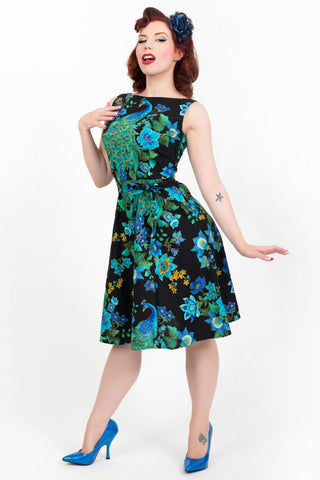 Monique Dress - Peacock Royale - sold out until April - Heart of Haute  - 1