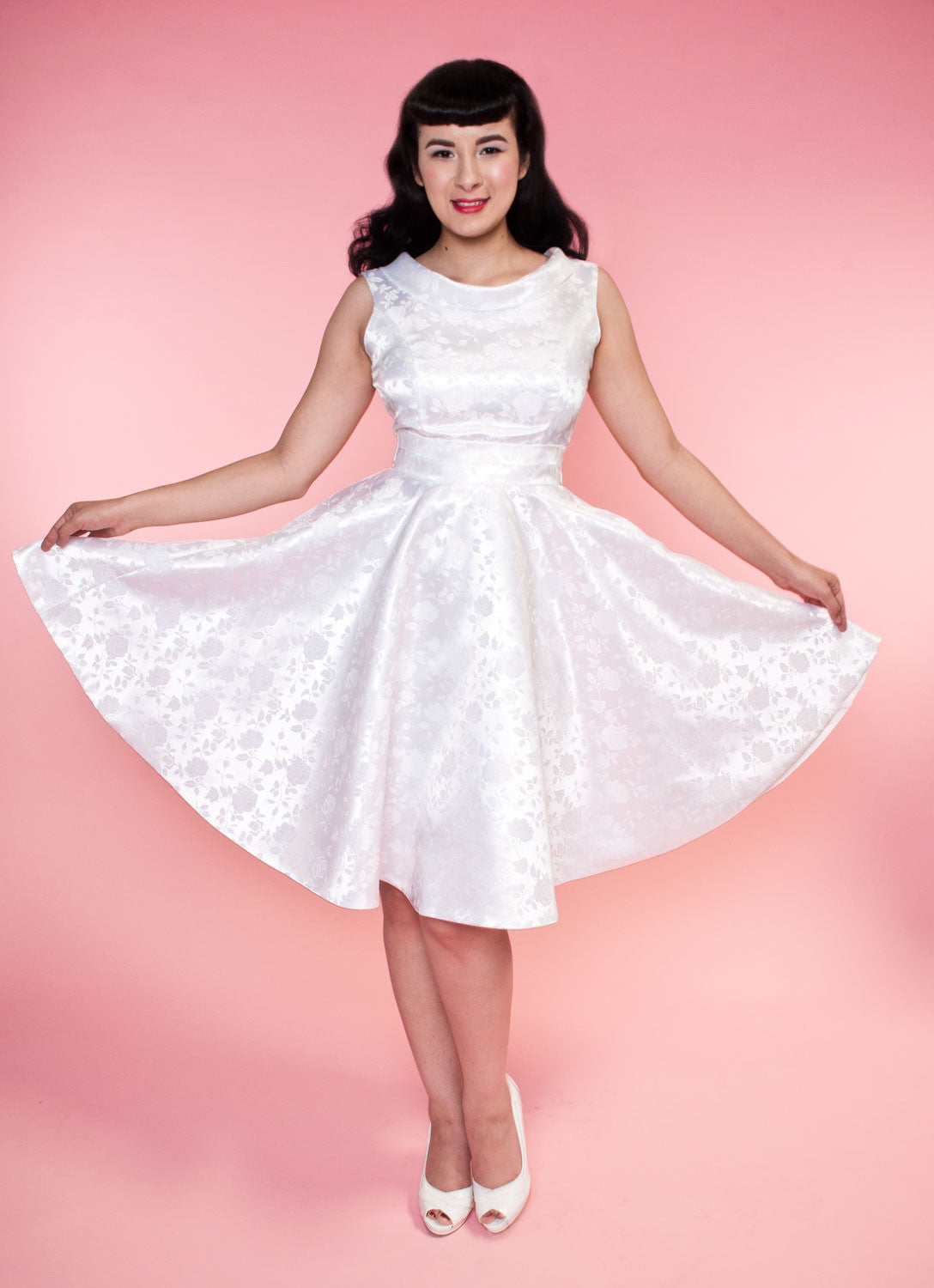 BP Suzette Dress - Pearl Embossed Floral - Heart of Haute  - 6