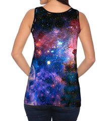 Womens Nebula Space Galaxy Tank