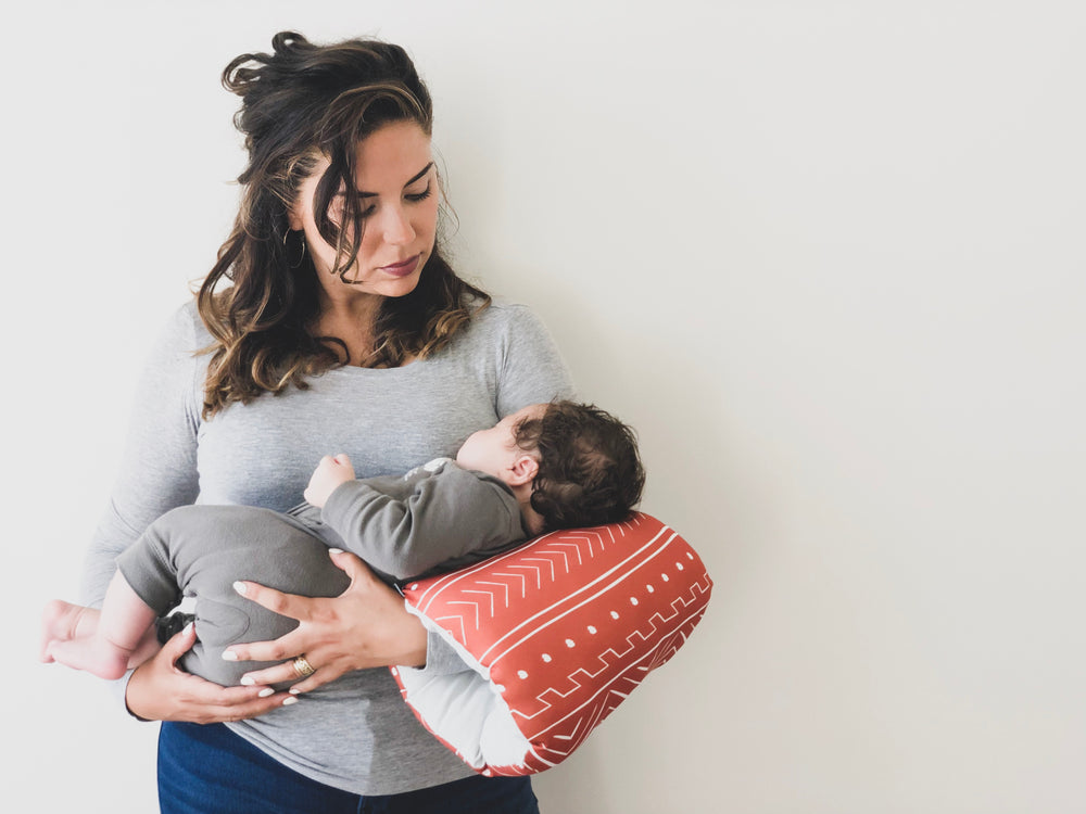 Rust Mudcloth Motif Nursing Pillow