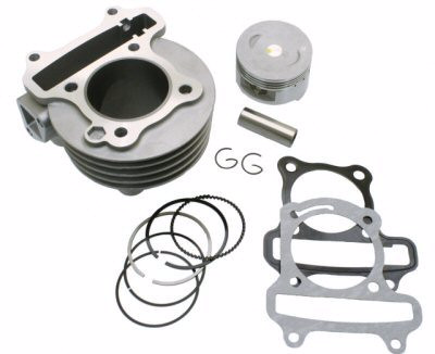Cylinder Kit - Universal Parts QMB139 50mm Big Bore Cylinder Kit Upgrade to 83cc for WOLF JET 50 > Part #151GRS258