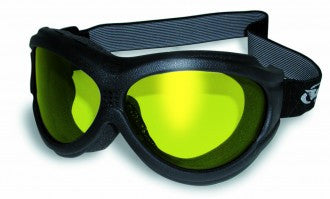 Riding Glasses - Big Ben A/F Style Riding Glasses with Yellow Tint Lenses > Part #GL-BEN-A/F-YELLOW