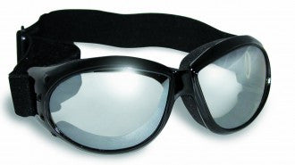 Riding Glasses - Eliminator Style Riding Glasses with Clear Mirror Lenses > Part #GL-ELIM-CLR-MIRR
