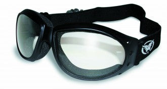 Riding Glasses - Eliminator Style Riding Glasses with Clear Lenses > Part #GL-ELIM-CLR