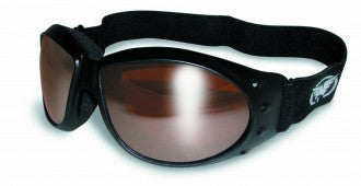 Riding Glasses - Eliminator Style Riding Glasses with Driving Mirror Lenses > Part #GL-ELIM-DRIVE