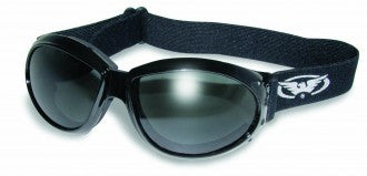 Riding Glasses - Eliminator Style Riding Glasses with Smoke Lenses > Part #GL-ELIM-SMOKE