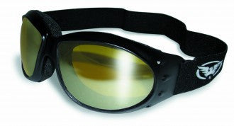 Riding Glasses - Eliminator Style Riding Glasses with Yellow Tint Mirror Lenses > Part #GL-ELIM-YMIRR