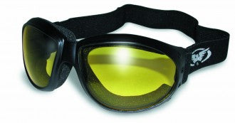 Riding Glasses - Eliminator Style Riding Glasses with Yellow Tint Lenses > Part #GL-ELIM-YELLOW
