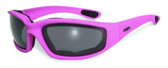 Riding Glasses - Fight Back 1 CF SM Style Riding Glasses with Dark Pink Frame > Part #GL-FIGHT-1-DARK