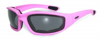 Riding Glasses - Fight Back 1 CF SM Style Riding Glasses with Light Pink Frame > Part #GL-FIGHT-1-LIGHT