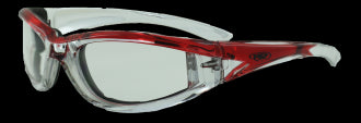 Riding Glasses - FlashPoint CF CL Style Riding Glasses with Red Frames > Part #GL-FP-CF-CL-RED