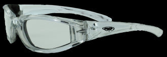 Riding Glasses - FlashPoint CF CL Style Riding Glasses with Silver Frames > Part #GL-FP-CF-CL-SILV