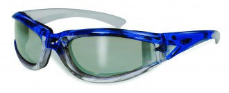 Riding Glasses - FlashPoint CF FM Style Riding Glasses with Blue Frames > Part #GL-FP-CF-FM-BLUE