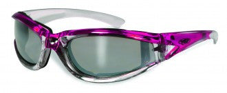 Riding Glasses - FlashPoint CF FM Style Riding Glasses with Pink Frames > Part #GL-FP-CF-FM-PINK