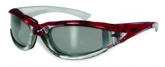 Riding Glasses - FlashPoint CF FM Style Riding Glasses with Red Frames > Part #GL-FP-CF-FM-RED