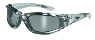 Riding Glasses - FlashPoint CF FM Style Riding Glasses with Silver Frames > Part #GL-FP-CF-FM-SILV