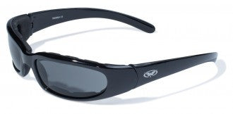 Riding Glasses - Chicago Style Riding Glasses with Smoke Lenses > Part #GL-CHI-SMOKE