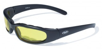 Riding Glasses - Chicago Style Riding Glasses with Yellow Tint Lenses > Part #GL-CHI-YELLOW