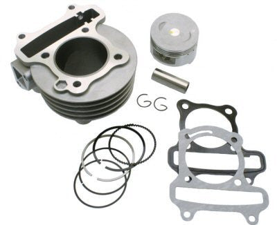 Cylinder Kit - Universal Parts QMB139 50mm Big Bore Cylinder Kit Upgrade to 83cc for WOLF BLAZE 50 > Part #151GRS258
