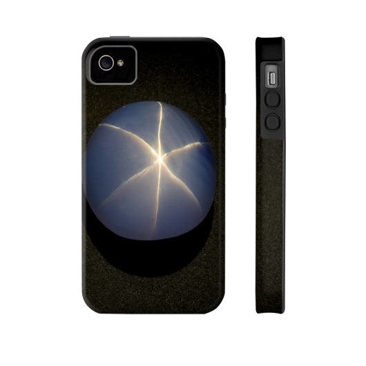 Star Sapphire Portrait Phone Case Tough iPhone 4/4s, Phone Case - PeakGems.com, PeakGems.com - 12