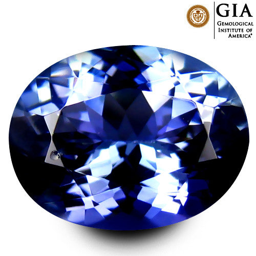 GIA Certified 3.72 ct Natural Tanzanite , Natural Gemstone - PeakGems.com, PeakGems.com - 1