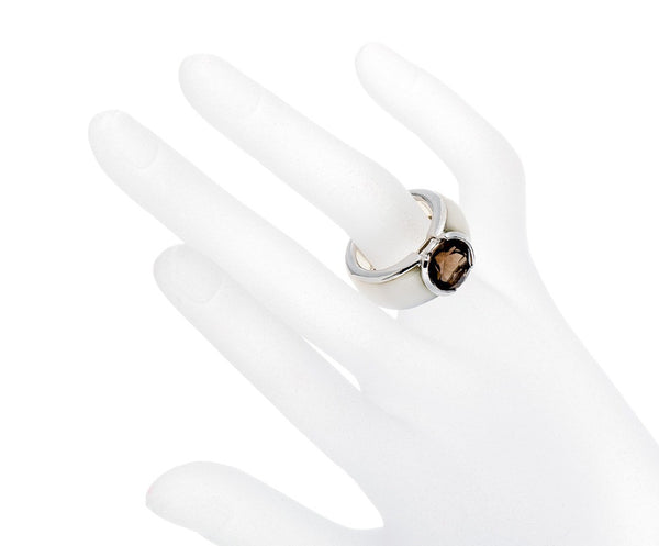 Natural Smoky Quartz Solid 925 Sterling Silver
